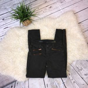 J. Crew Toothpick Zippered Ankle Pants